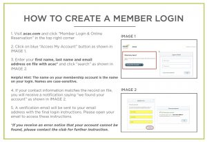 how to create a member login instructions